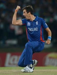 Steven Finn took 3 wickets but was warned for knocking the bails off the stumps in his delivery stride, a problem he has had all of his career (PC: ECB)
