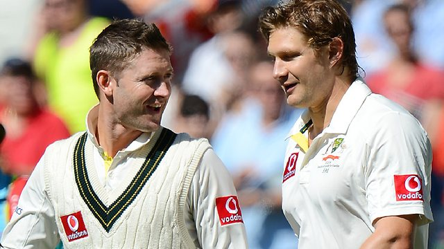 Not such happy families between Clarke and Watson now... (Fox Sports)