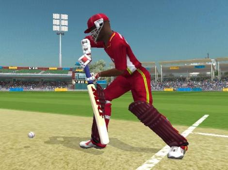 Brian Lara shows a rarely used defensive shot in the game (PC: CricketPatches)